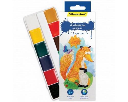 Краски акварельные 12 цветов Пластилиновая коллекция (без кисти)