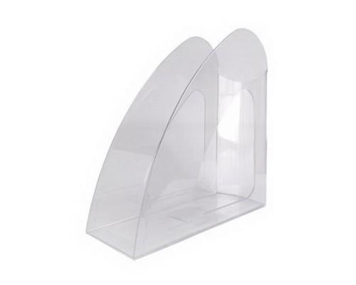 Лоток для бумаг вертикальный Hatber прозрачный