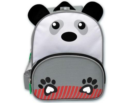 Рюкзак детский ПАНДА НА СЕРОМ для мальчика