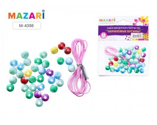 Набор для изготовления браслета ZEAL, бусины из акрила + эластичный шнурок 1м