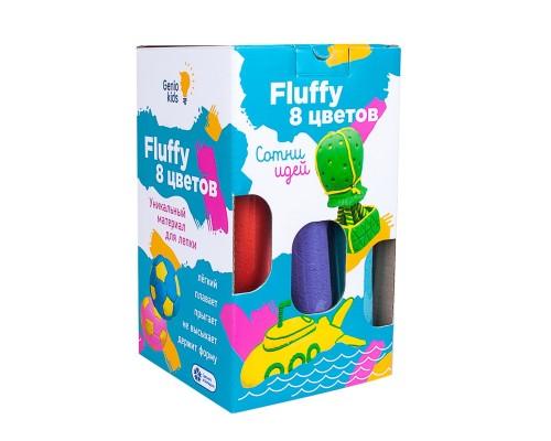 Воздушный пластилин Fluffy 8 цветов