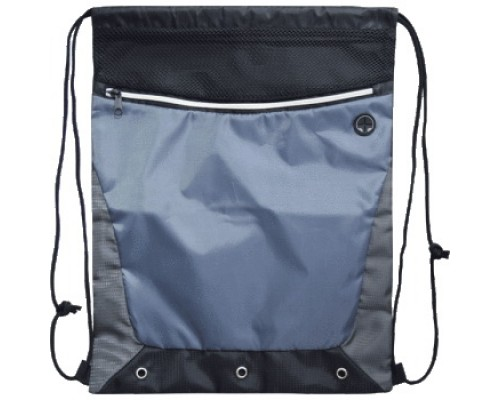 Мешок для обуви deVENTE 35x44 см, на веревочной завязке, черная с серым для мальчика