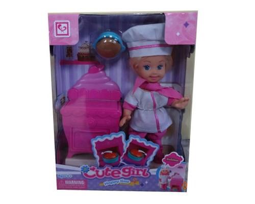 Набор игровой Cute Girl с куколкой, поварёнок K899-18.