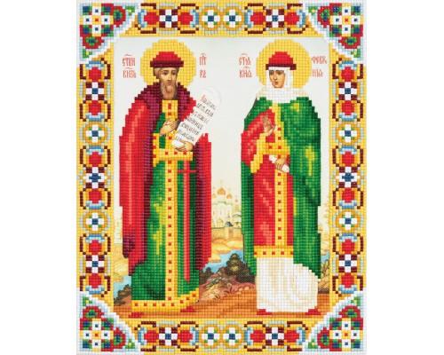 """Алмазная мозаика """"Икона Святых Петра и Февронии"""" 27 х 22"""