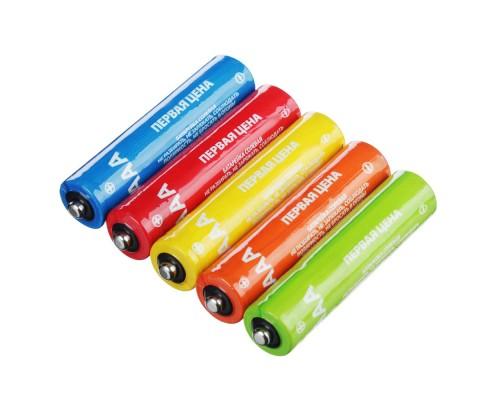 "Батарейка Первая цена ""Super heavy duty"" солевые, тип ААА (R03),S4"