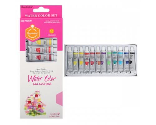 Краски акварельные 12 цветов 6мл КОКОС в тубах картонная упаковка 187668