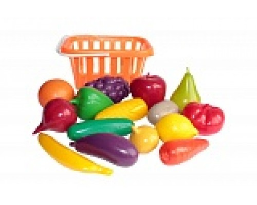 Набор Фрукты и овощи в корзине 17пр.